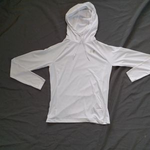 Under Armour Hooded White Long Sleeve T Shirt